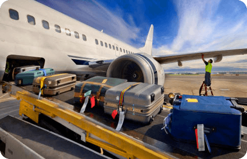 Shipping baggage and luggage