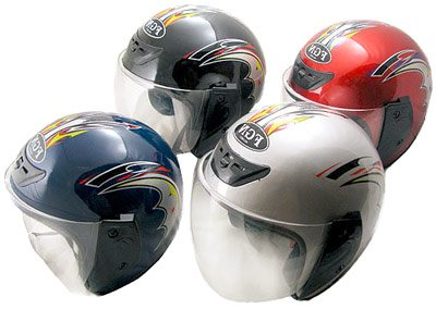 Motorcycle helmet types