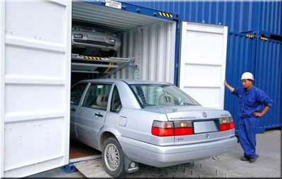 Shipping a car in container